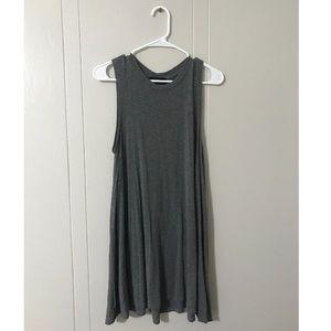 Grey tank t-shirt dress